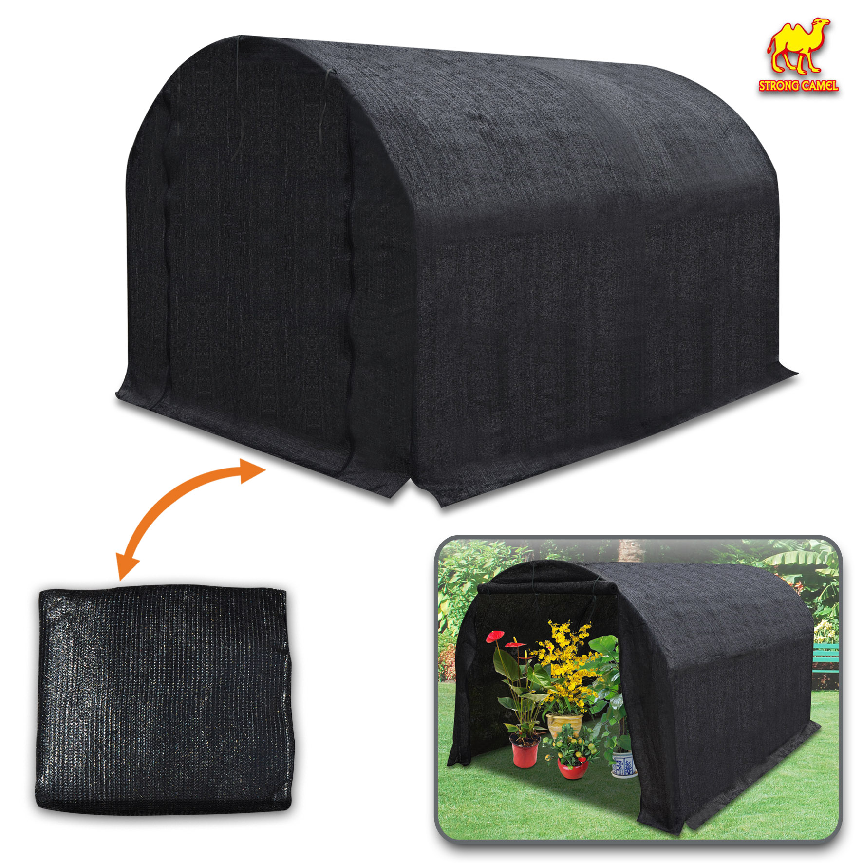Strong Camel 80% Sunblock Shade Cloth Sun Net Sun Mesh Shade Plant Cover  For Greenhouse