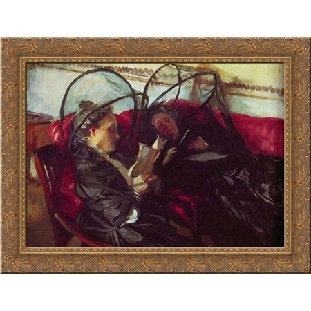 Mosquito Nets 24x20 Gold Ornate Wood Framed Canvas Art by Sargent, John