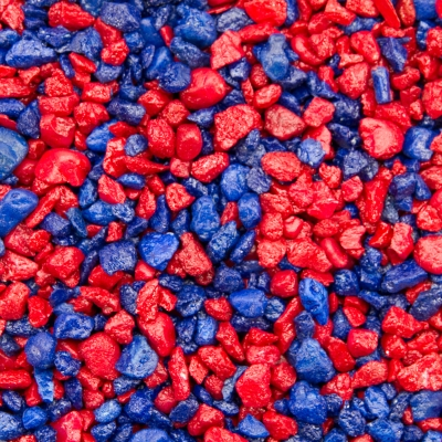 Estes Gravel Spectrastone Speedy Racer Gravel, Red/Blue, 5 lb/Bag