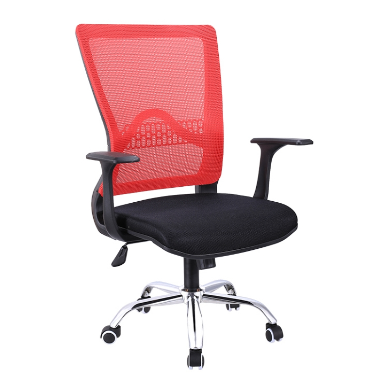 Mid-back Adjustable Office Chair Mesh Seat,Executive Task Chair with Arms