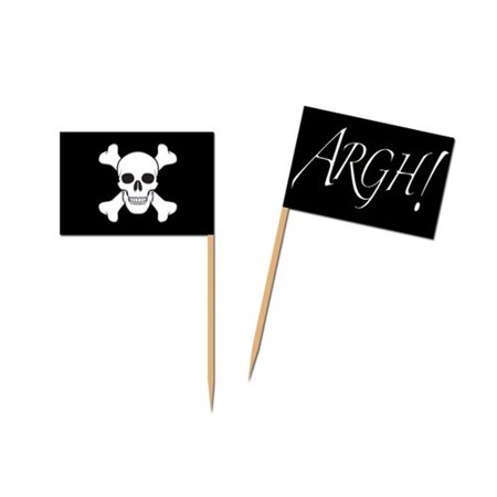 The Beistle Company Pirate Flag Picks (Set of 50)
