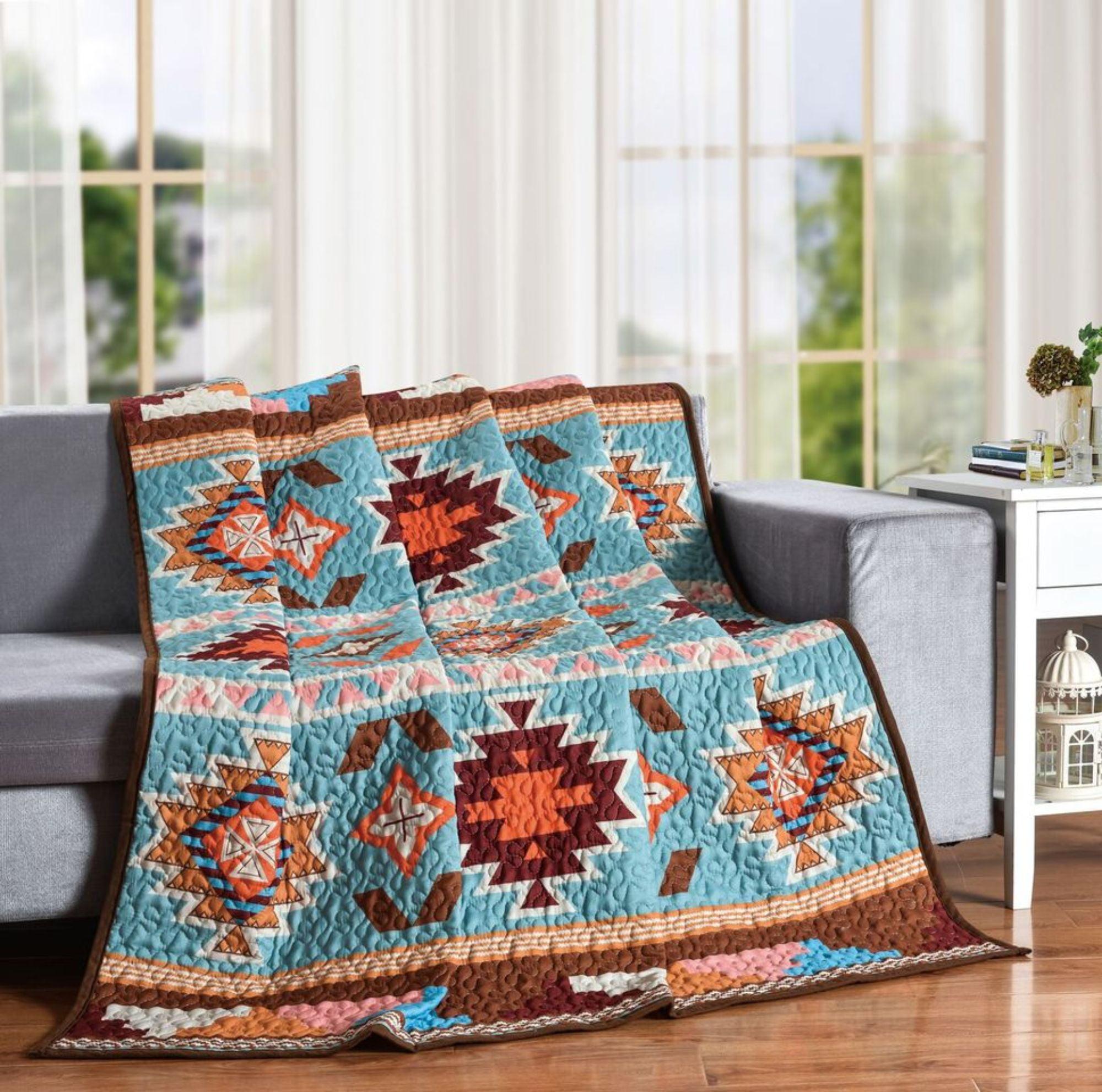 White And Orange Southwestern Boho Beauty Decorative Accent Throw Blanket 60 X 50 Walmart Com Walmart Com
