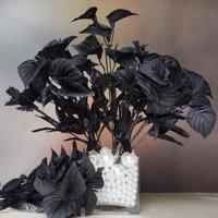 252 Artificial Mini Calla Lilies Wedding Flower Vase Center - Black