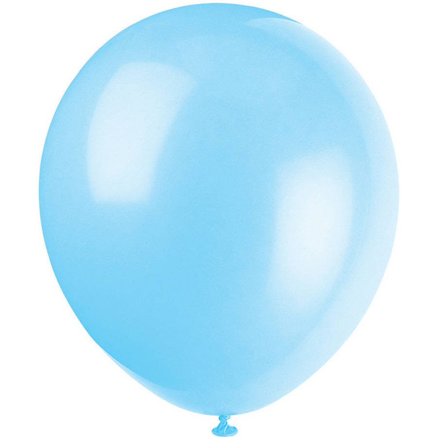 Latex Balloons, Baby Blue, 12in, 10ct