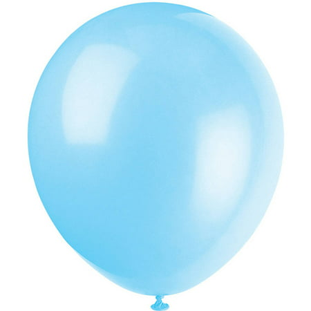 Latex Balloons, Baby Blue, 12in, 10ct - Outdoor Balloon Lights