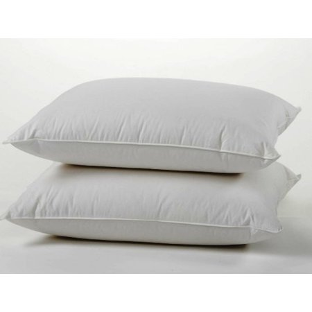 100% Cotton Cover Highest Quality, Feather & Down Pillow, Best use for Decorative Pillows & for Firm Sleepers, Dust Mite Resistant (not polyester
