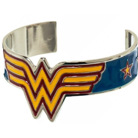 Wonder Woman Superhero Logo Metal Cuff Bracelet Cosplay Bangle Gift for $<!---->