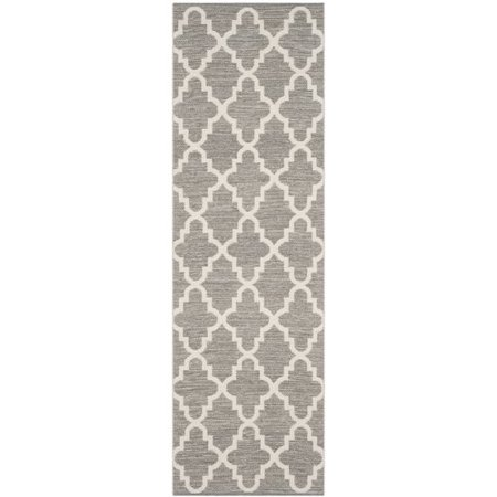 Image of Alcott Hill Valley Hand-Woven Gray/Ivory Area Rug