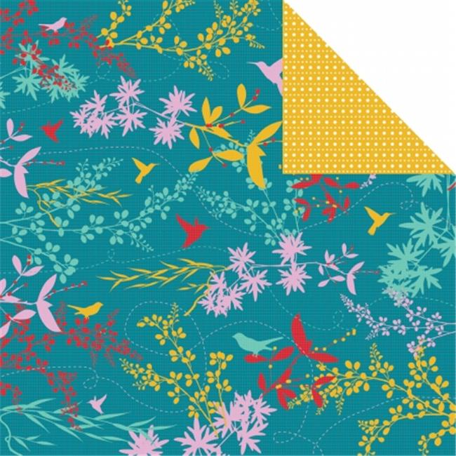 Kaisercraft P780 Hummingbird Double-Sided Paper 12 inch X12 inch -Nectar -Pack of -20
