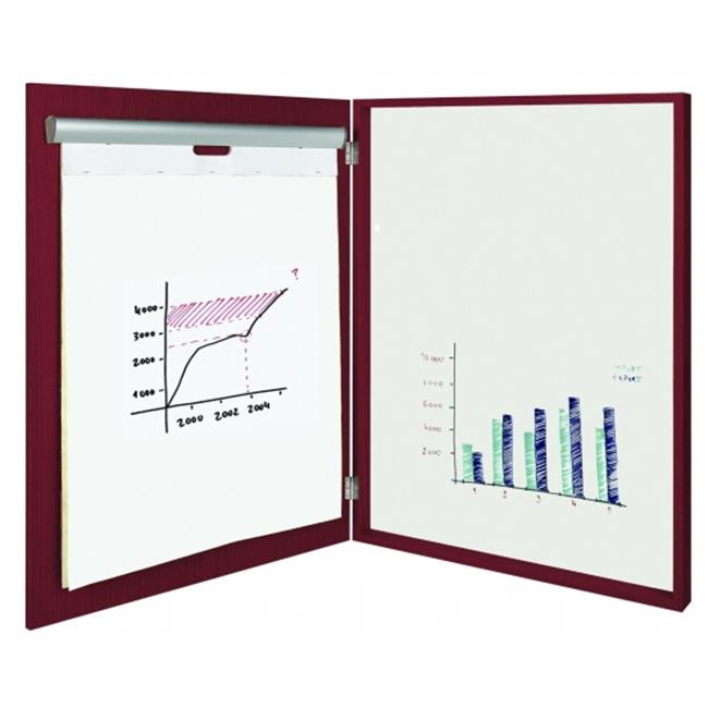 BVC CAB02020230 MasterVision 2-in-1 Magnetic Platinum Plus Dry Erase Conference Cabinet - Cherry