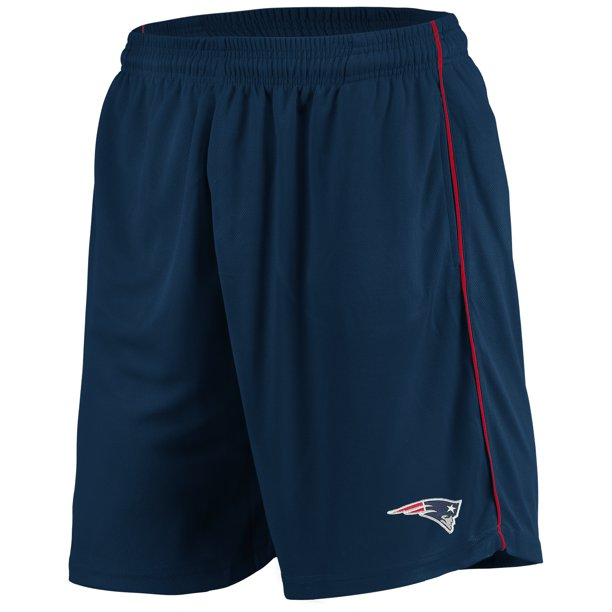 Men's Majestic Navy New England Patriots Mesh Shorts