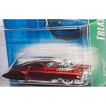 Hot Wheels Treasure (hot wheels 2007-132 treasure hunts #12 evil twin red 1:64 scale)