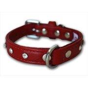 Angel Pet Supplies 41103 Athens Rhinestone Dog Collar in Valentine Red