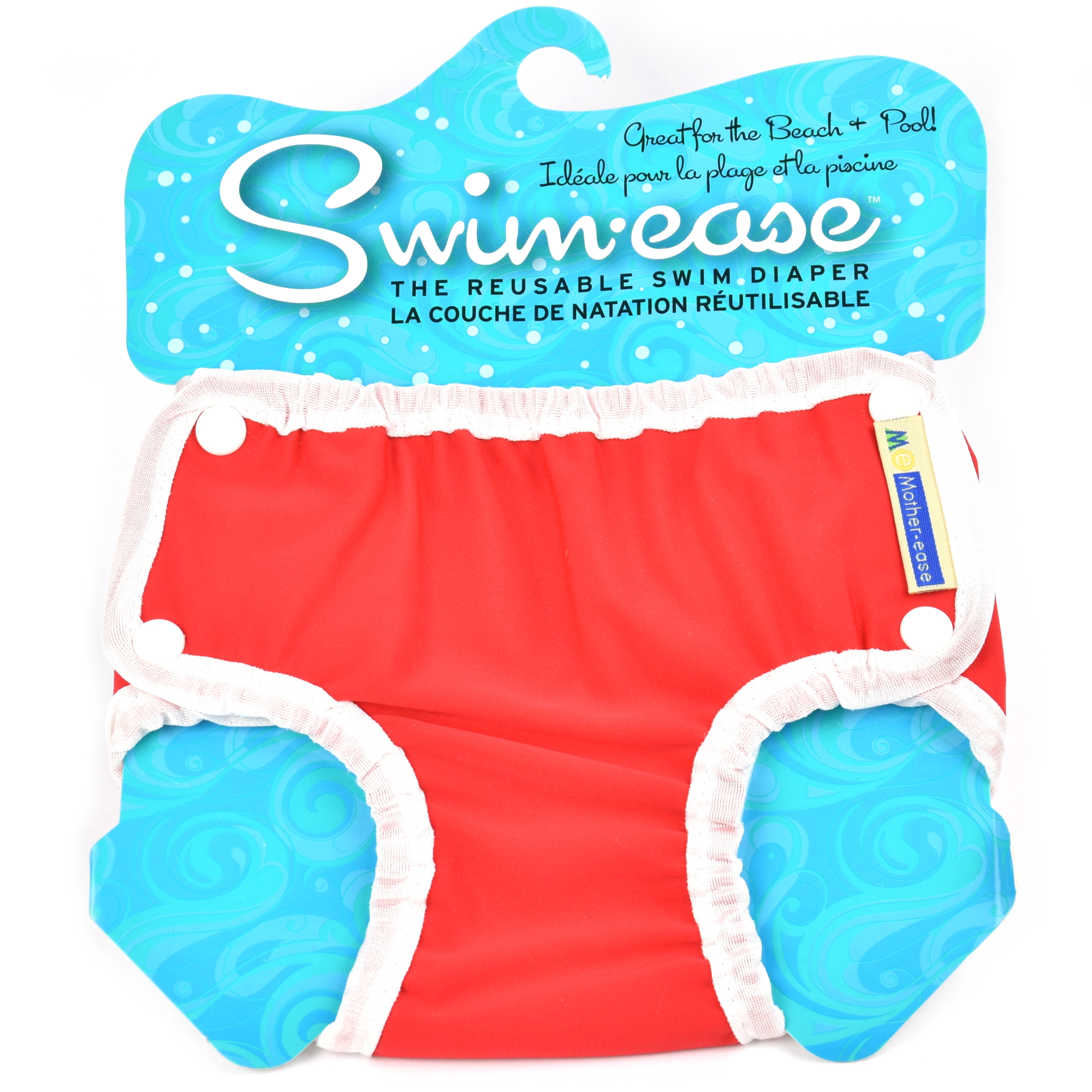 Mother-Ease Swim-Ease Swim Diaper - Red Large (27-33 lbs)