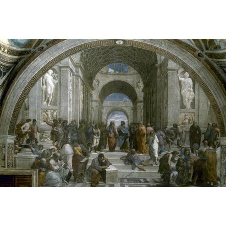 Raphael School Of Athens Nfresco 1509-10 Rolled Canvas Art - (24 x 36)