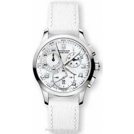 Victorinox Swiss Army Women's Alliance 241321 White Leather Swiss Quartz Watch
