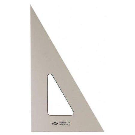 "Image of 3 X Alvin 14"" Smoke-Tint Triangle 30 degree/60 degree"