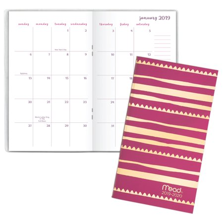 Mead Caprice 2-Year Monthly Pocket Planner -