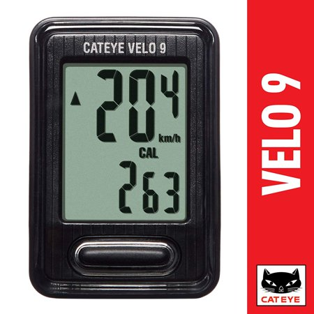 - Velo 9 Wired Bike Computer CAT EYE - Black Cat Eye Vectra Wireless Cycle Computer