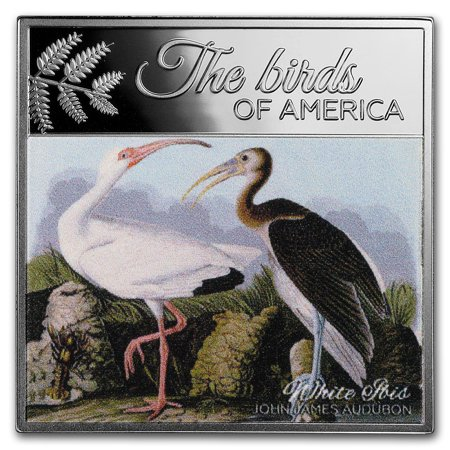 2017 Rep. of Cameroon Silver The Birds of America (White Ibis)