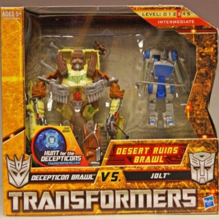 Transformers Hunt for the Decepticons Exclusive Deluxe Action Figure 2Pack Desert Ruins Brawl Decepticon Brawl vs. Jolt