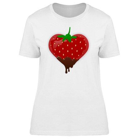 Strawberry Shaped Heart Tee Women's -Image by Shutterstock