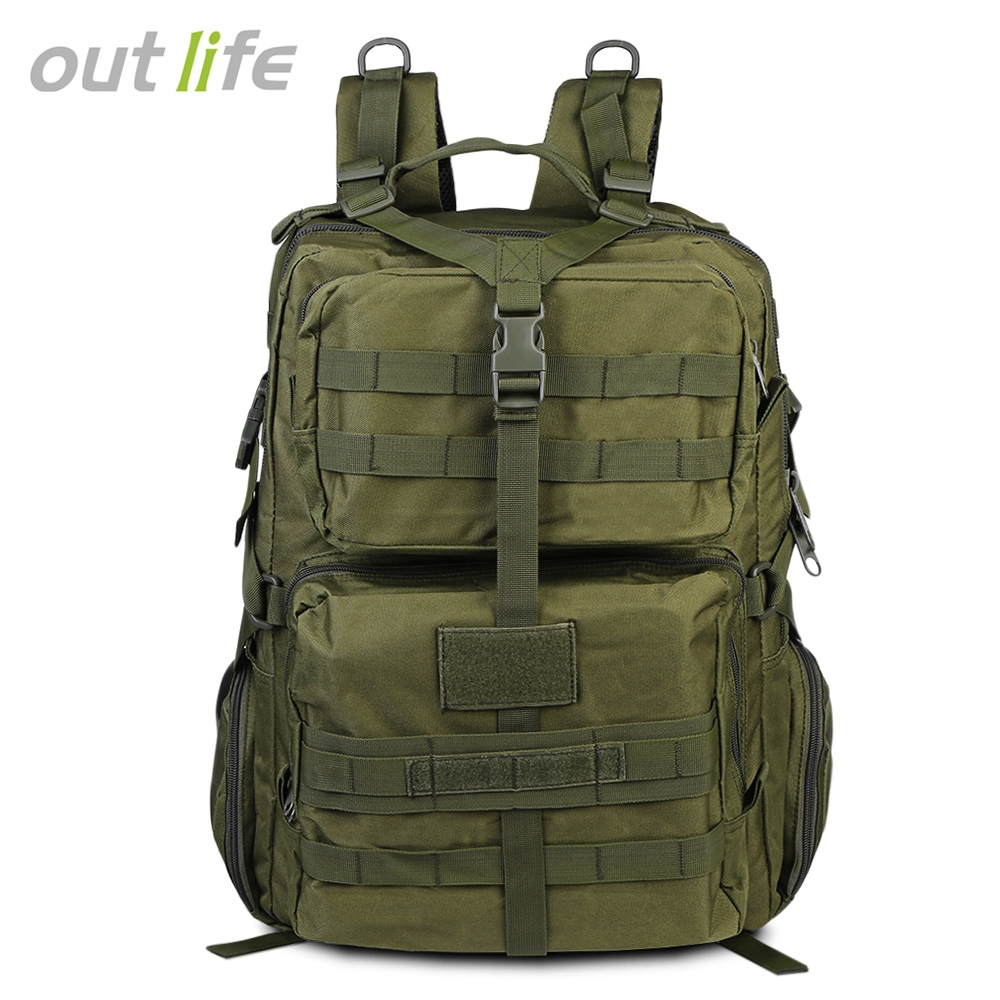 Us Military 45l Large Capacity Tactical Hunter Hiking Camping Outdoor Backpack by OUTLIFE