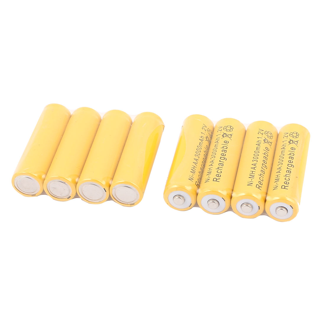 Unique Bargains 8 Pcs Ni-MH AA 3000mAh 1.2V Rechargeable ...