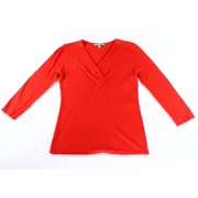 Classiques Entier NEW Solid Red Women's Size Small S V-Neck Sweater