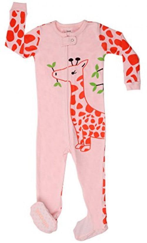 Elowel Baby Girls Footed Ballerina Pajama Sleeper 100/% Cotton Size 6M-5Years