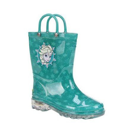 Girls' Western Chief Frozen Icy Elsa Lighted Rain Boot (Frozen Boots)