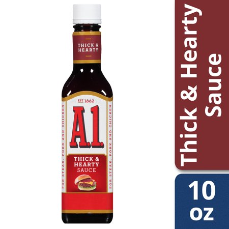 (2 Pack) A.1. Thick & Hearty Steak Sauce, 10 oz Bottle Chipotle Steak Sauce