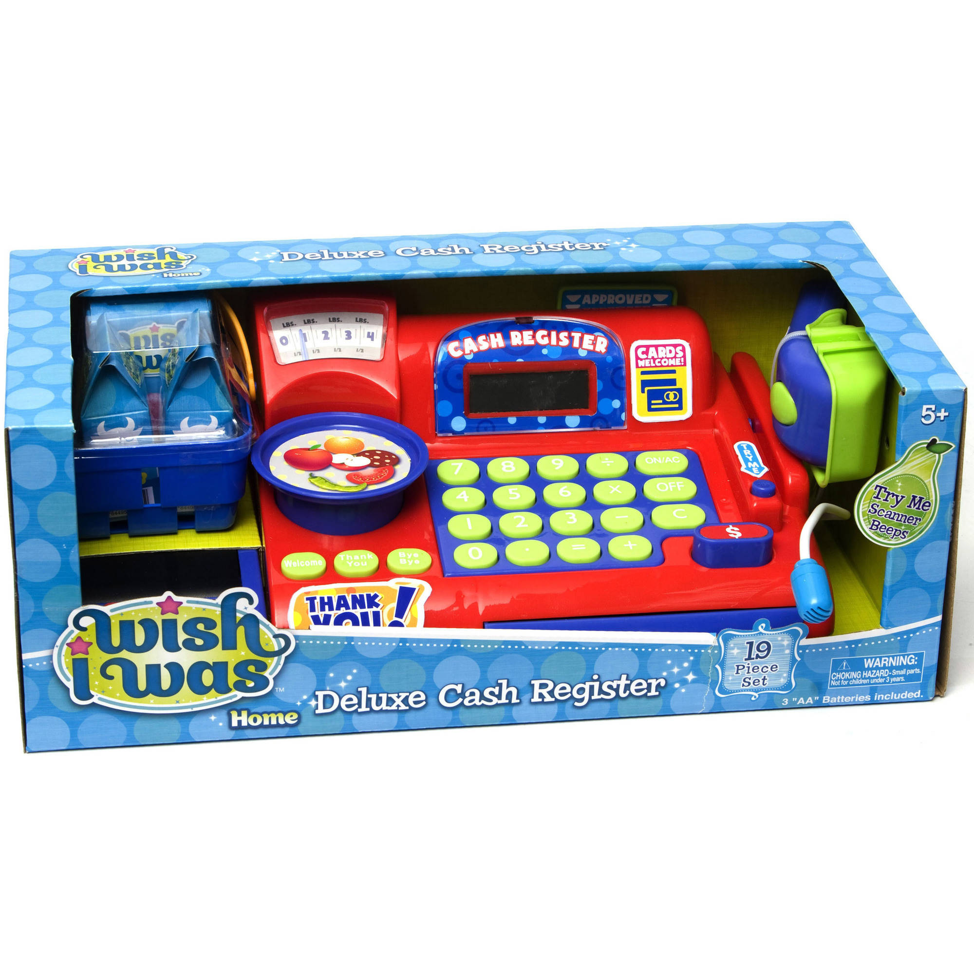 Wish I Was Deluxe Cash Register, Blue