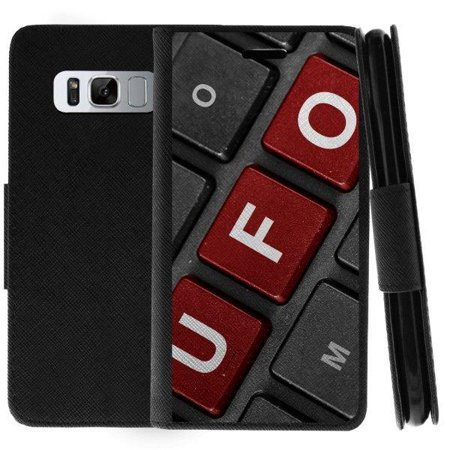 TurtleArmor ® | For Samsung Galaxy Note 8 N950 [Wallet Case] Leather Cover  with Flip Kickstand and Card Slots - UFO Keyboard