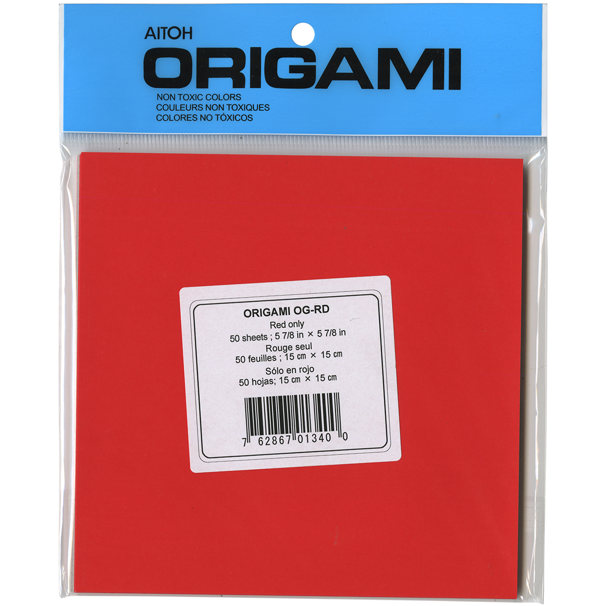 "Origami Paper 5.875"" x 5.875"", 50pk, Red"