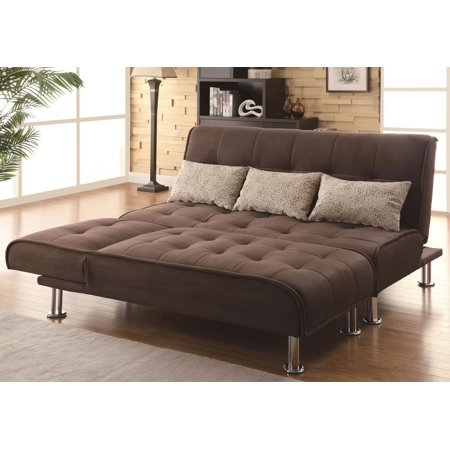 Simple Relax 1perfectchoice Contemporary Living Room Sofa Futon Bed Adjule Chaise Sleeper Ottoman Brown 1 X