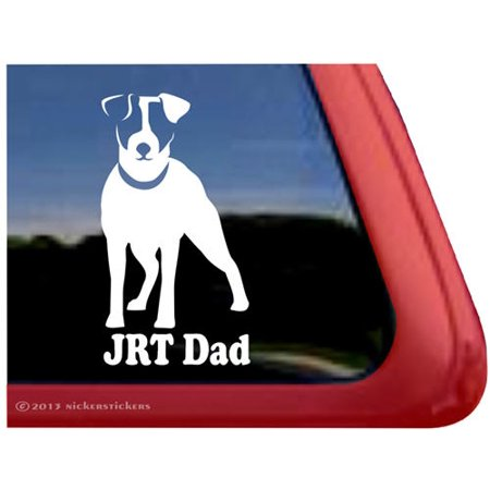 JRT Dad | High Quality Vinyl Jack Russell Terrier Dog Window Decal - Rydell High