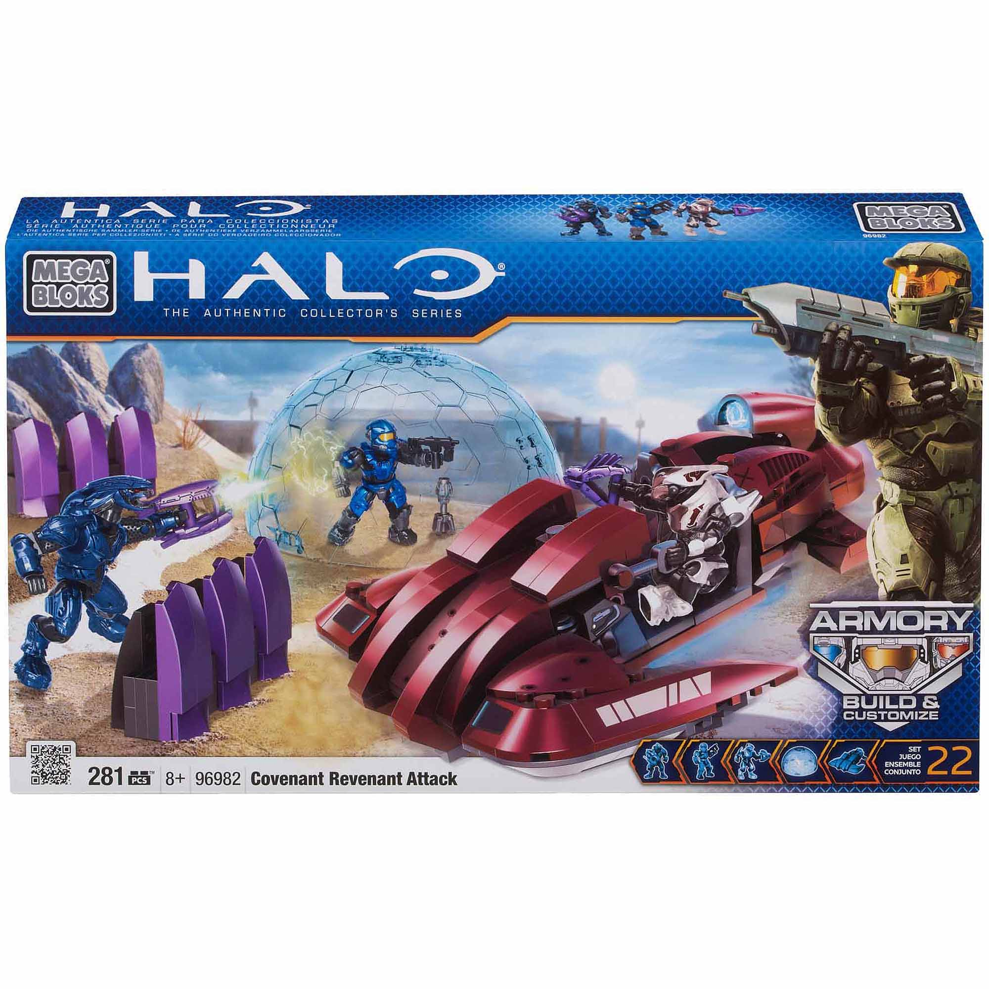 Mega Bloks Halo Covenant Revenant Attack Building Set by Mega Brands