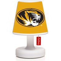 Missouri Tigers Edison the Petit LED Rechargeable Lamp & Cooper Cappie Shade - White