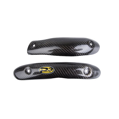 P3 Carbon Head Pipe Heat Shield Stock for Yamaha YZ450F 2014-2018