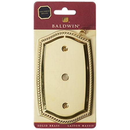 Baldwin 4795030 Rope Switch Cable Cover Plate, Bright Brass ()