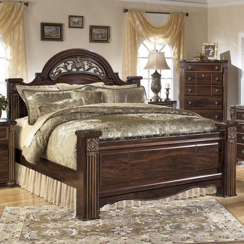 Ashley Furniture Gabriela Wood Queen, Gabriela Queen Poster Bed