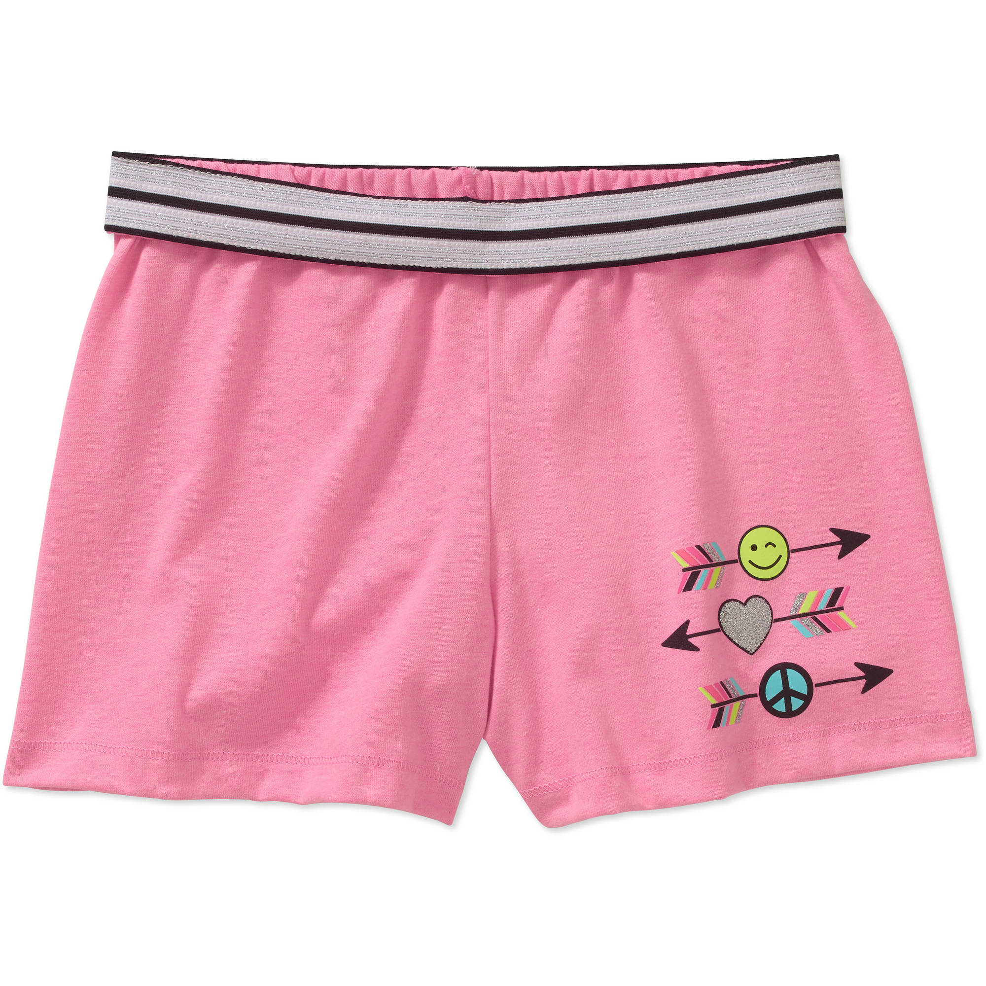 Faded Glory Girls' Graphic Shorts by