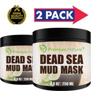 Dead Sea Mud Mask For Face And Body Anti Aging Deep Cleaning Mask 8 OZ - 2 PACK
