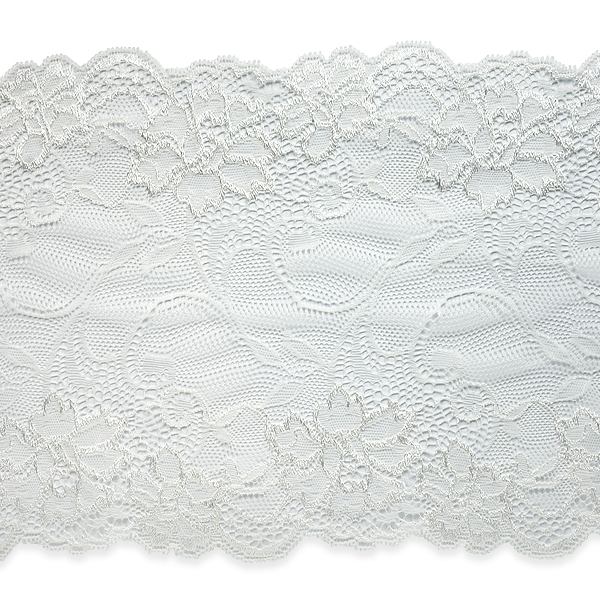 "Expo Int'l Annabel 7 1/2"" Stretchable Polyester Chantilly Lace Trim by the yard"