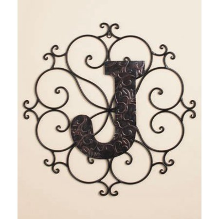 Personalized Metal Embossed Monogram Wall Hanging  J   Our Exclusive  By Ltd Commodities