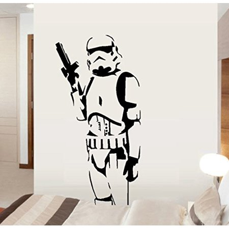 Decal ~ Storm-trooper Soldier ~ Star Wars Themed ~ Wall or Auto Decal (20