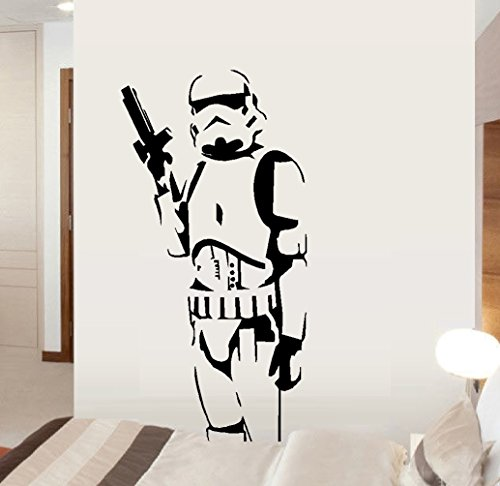 "Decal ~ Storm-trooper Soldier ~ Star Wars Themed ~ Wall or Auto Decal (20"" x 40"")"