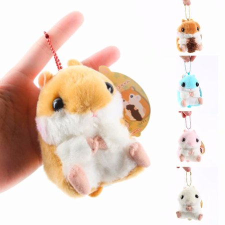Akoyovwerve Soft Stuffed Plush Doll Baby Kids Lovely Cute Hamster Doll Toys Birthday Gift, Brown