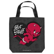 Hot Stuff Mischievous Tote Bag White 9X9